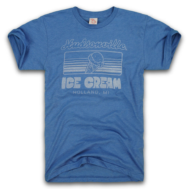 HUDSONVILLE ICE CREAM - MAY'S THROWBACK TEE (UNISEX)