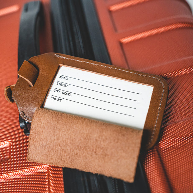 HOME LEATHER LUGGAGE TAG