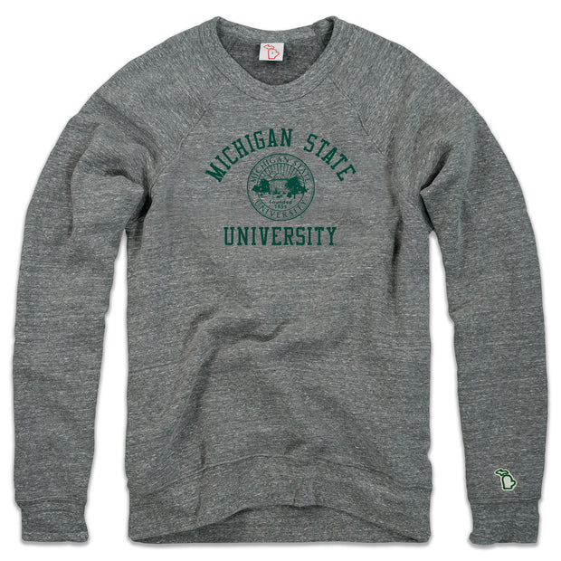 MSU - OFFICIAL SEAL FLEECE SWEATSHIRT (UNISEX)