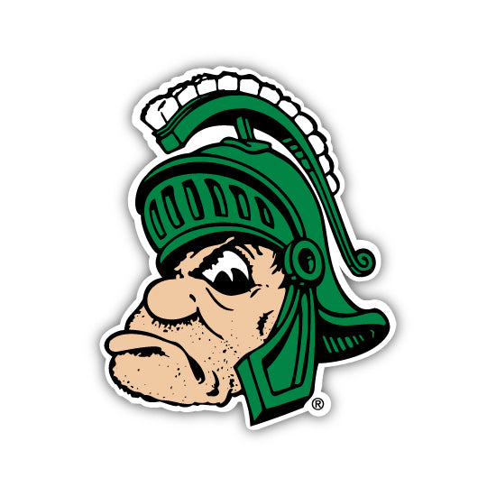MSU - GRUFF SPARTY THROWBACK STICKER