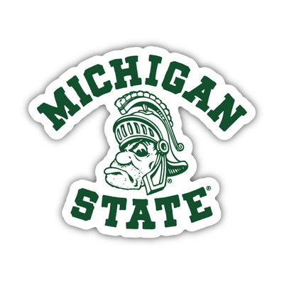 MSU GRUFF SPARTY STICKER