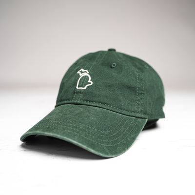 HAT - GREEN AND WHITE