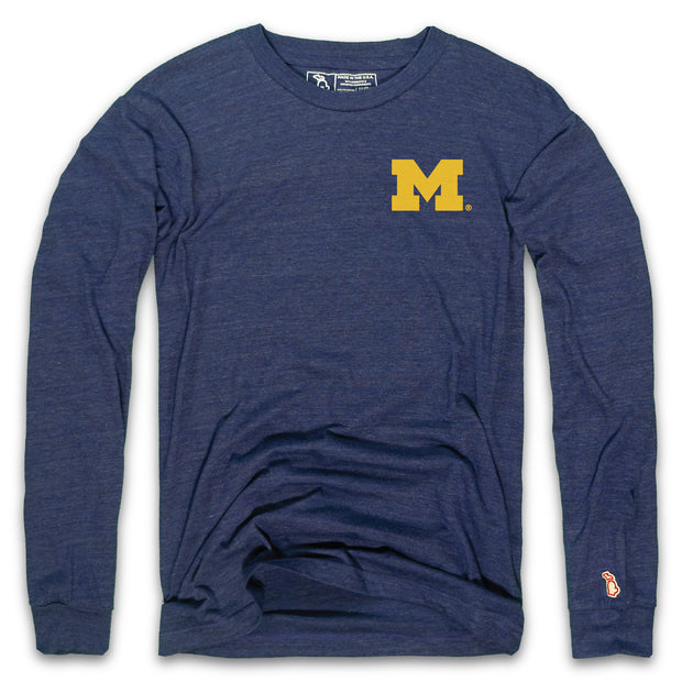 MICHIGAN - BLOCK M LONG SLEEVE (UNISEX)