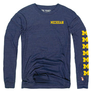 UofM - BLOCK M REPEATER LONG SLEEVE (UNISEX)