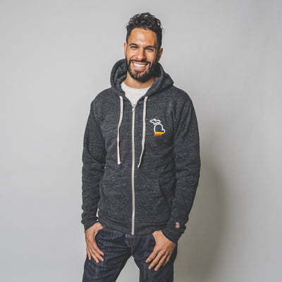 THE MITTEN - SUNSET FLEECE ZIP HOODIE (UNISEX)