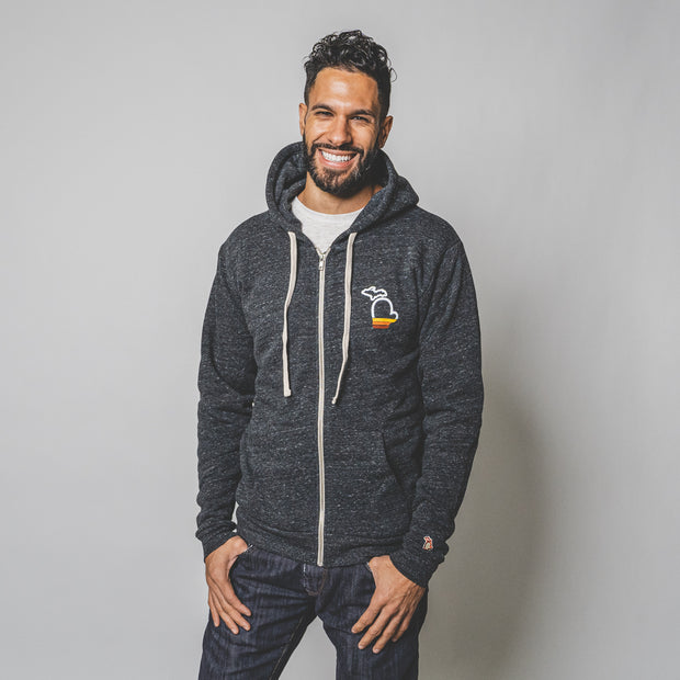 THE MITTEN - SUNSET LIGHTWEIGHT ZIP HOODIE (UNISEX)