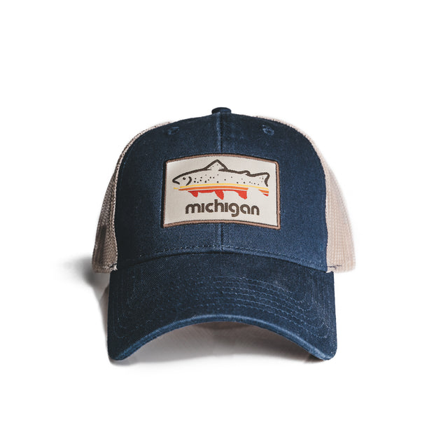 FISH MICHIGAN PATCH HAT