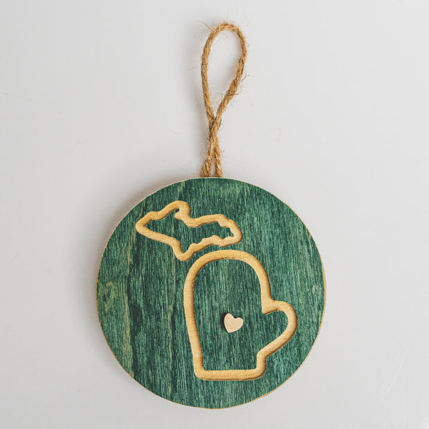 MITTEN WOOD ORNAMENT