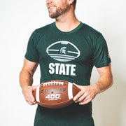 MSU - TRI-STRIPE FOOTBALL (UNISEX)