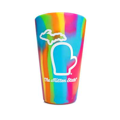 SILICONE PINT CUP - RAINBOW