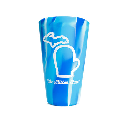 SILICONE PINT CUP - ARCTIC SKY
