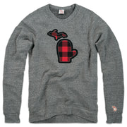 THE MITTEN - BUFFALO PLAID FLEECE SWEATSHIRT (UNISEX)