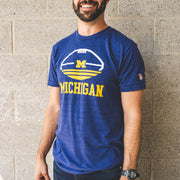 MICHIGAN - TRI-STRIPE FOOTBALL (UNISEX)