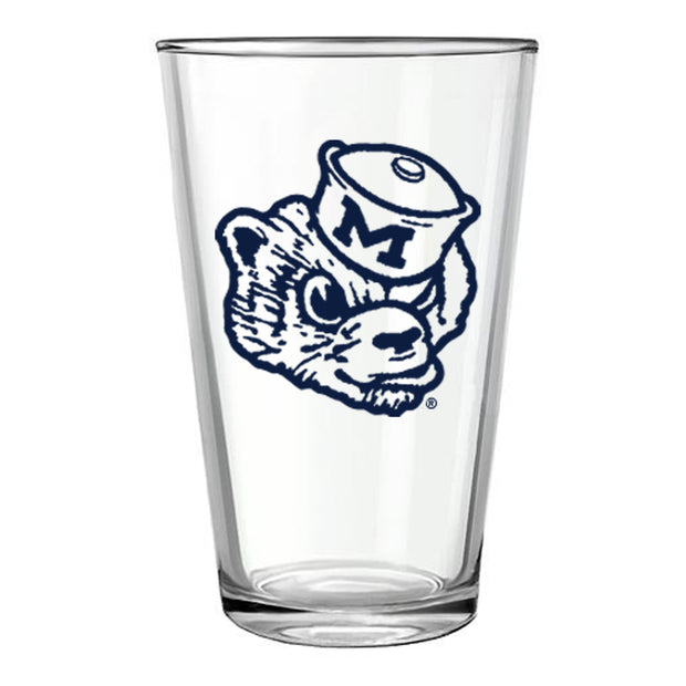 MICHIGAN WOLVERBEAR PINT GLASS
