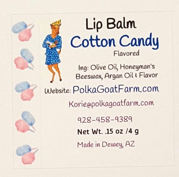 Cotton Candy Flavored Lip Balm