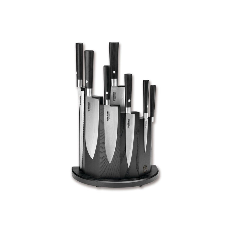 Boker Damascus Black 8-Pc Knife Block Set