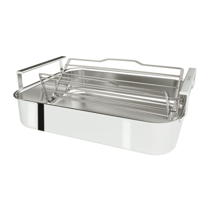 "Cristel 3-ply Stainless Steel Roaster - 16"" x 12"" x 3"""