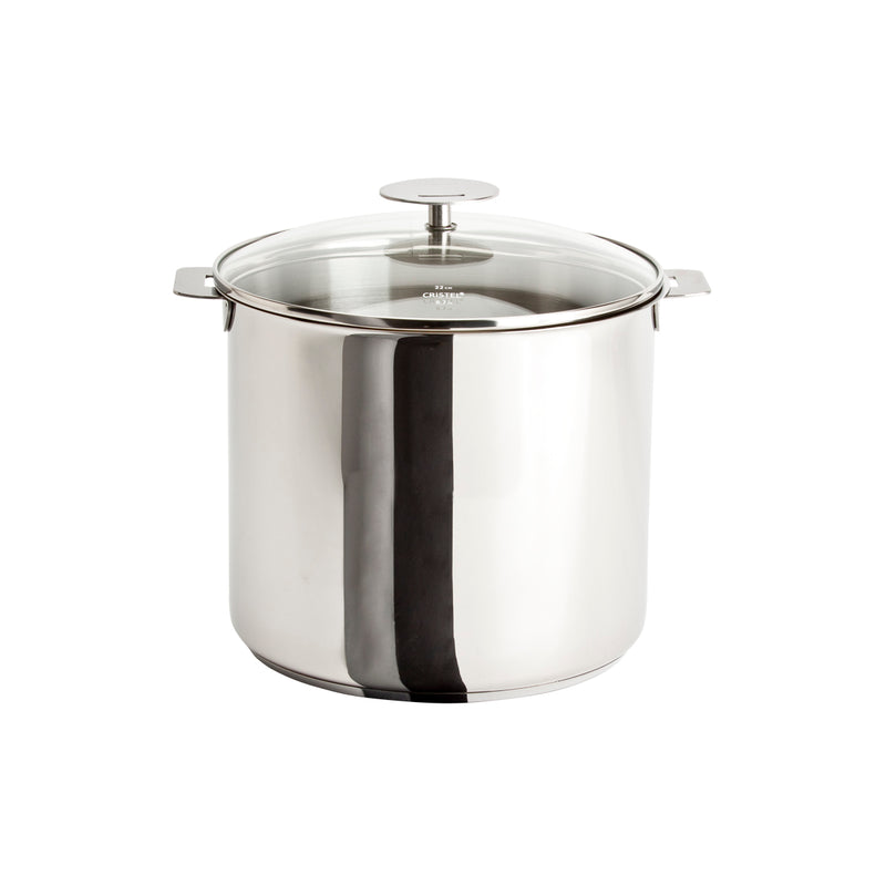 Cristel Casteline Removable Handle - 10 Qt Stockpot w/Lid