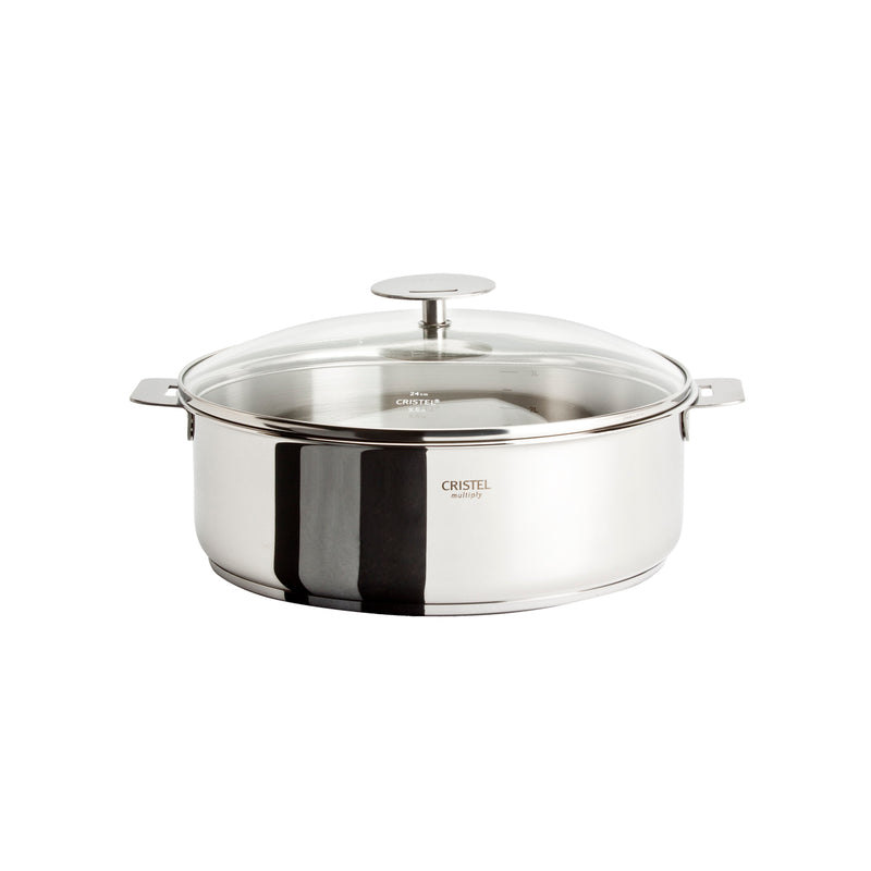 Cristel Casteline Removable Handle - 4 Qt Saute Pan w/Lid