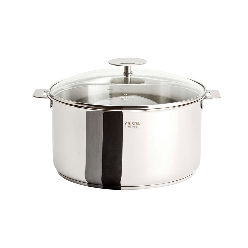Cristel Casteline Removable Handle - 4.5 Qt Stew Pan w/Lid
