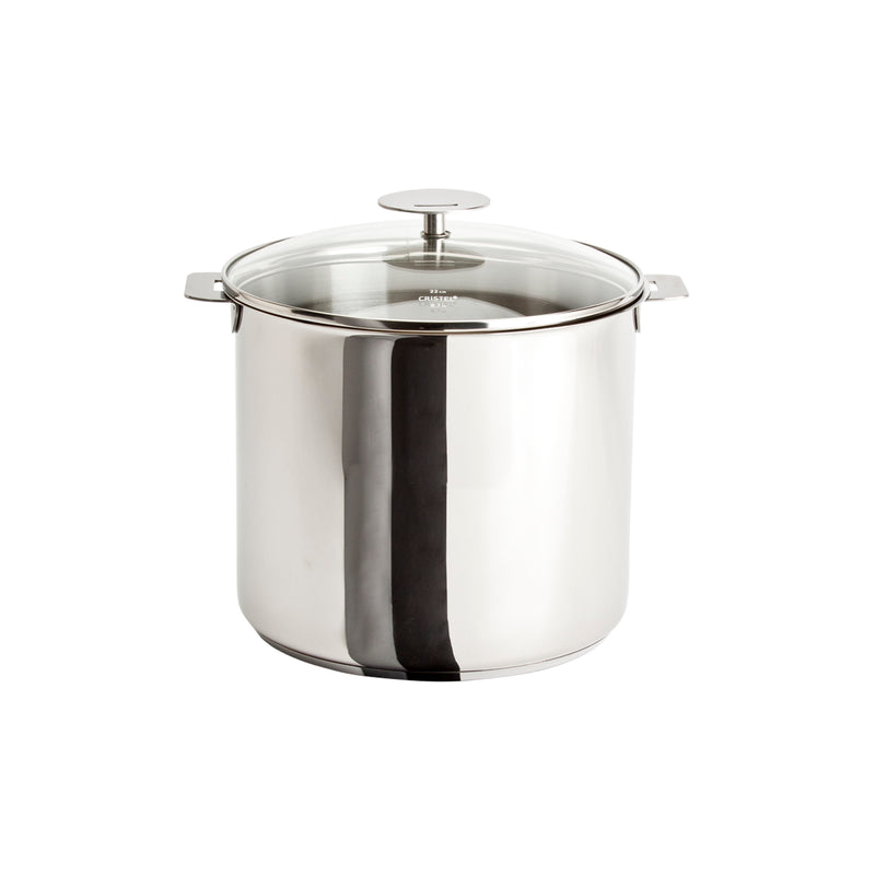 Cristel Casteline Removable Handle - 7.5 Qt Stockpot w/Lid