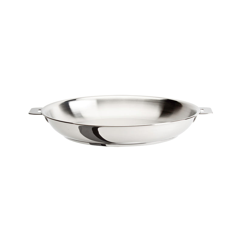 "Cristel Casteline Removable Handle - 9.5"" Stainless Steel Frying Pan"