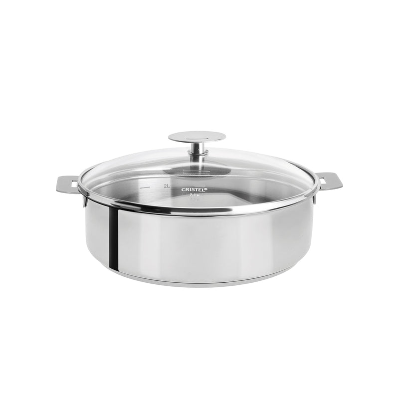 Cristel Mutine Removable Handle - 2 Qt Saute Pan w/Lid