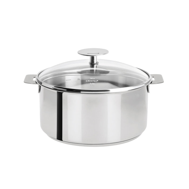 Cristel Mutine Removable Handle - 3 Qt Saucepan w/Lid