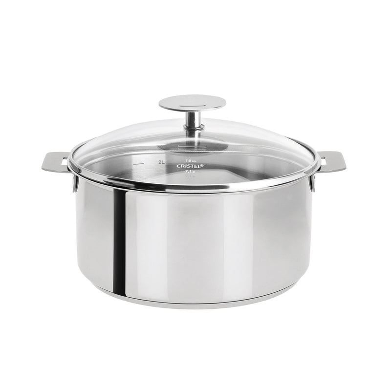 Cristel Mutine Removable Handle - 4 Qt Stew Pan w/Lid