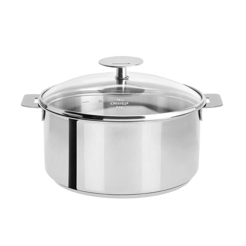 Cristel Mutine Removable Handle - 5.5 Qt Stew Pan w/Lid