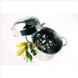 Demeyere Specialties -3.2 Qt. Mussel Pot with High Domed Lid