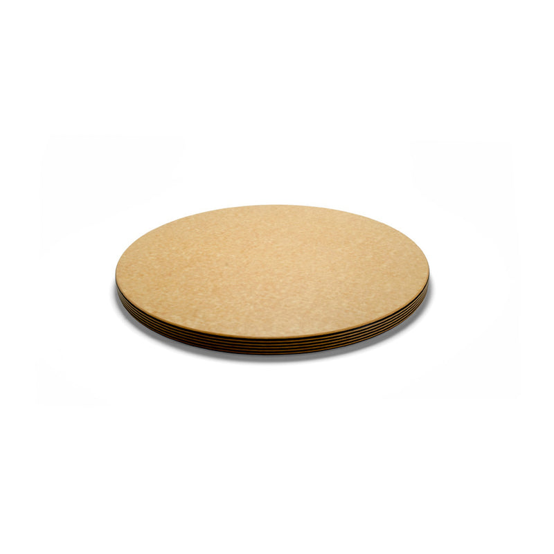 "Epicurean Big Block Series 18"" Round Cutting Board - Natural/Slate"