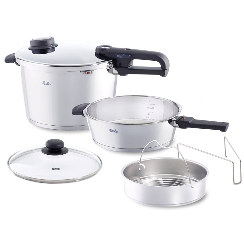 Fissler 6 Pc Large - 8.5qt and 4.2qt Vitavit Premium Pressure Cooker Set