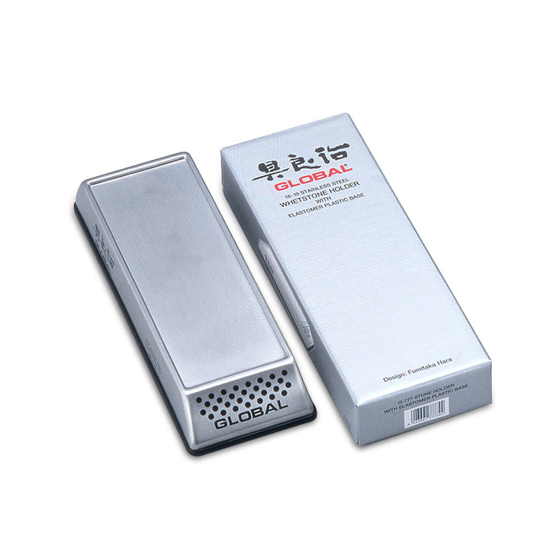 Global G-777 - Stainless Steel Whetstone Holder