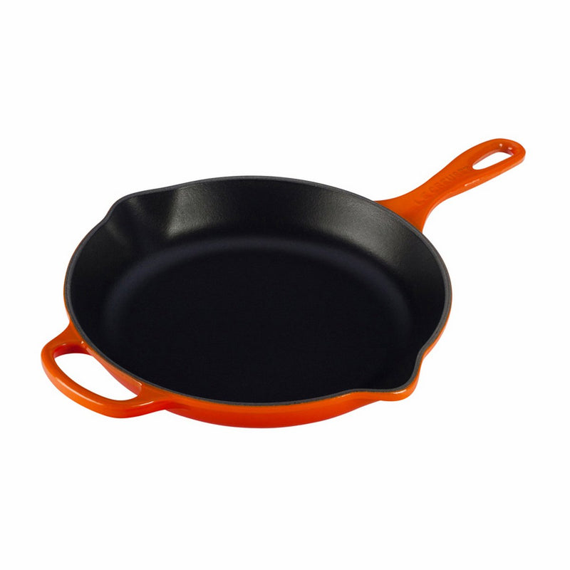 "Le Creuset 10 1/4"" (1 3/4 Qt.) Signature Iron Handle Skillet - Flame"