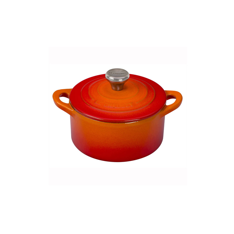 Le Creuset 1/3 Qt. Mini Cocotte w/Stainless Steel Knob - Flame