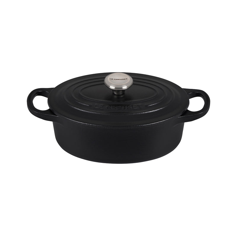 Le Creuset 1 Qt. Signature Oval Dutch Oven w/Stainless Steel Knob - Licorice