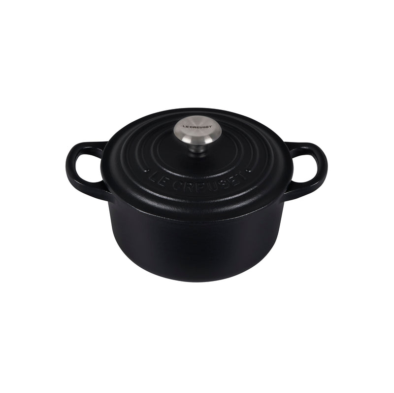 Le Creuset 1 Qt. Signature Round Dutch Oven w/Stainless Steel Knob - Licorice