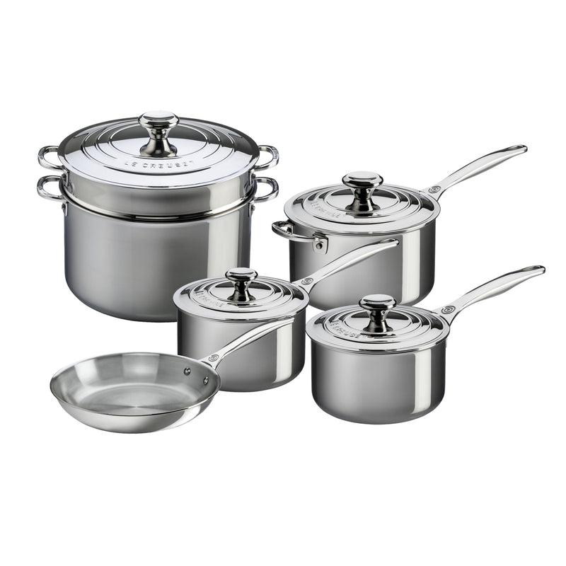 Le Creuset 10 Piece Set- Stainless Steel