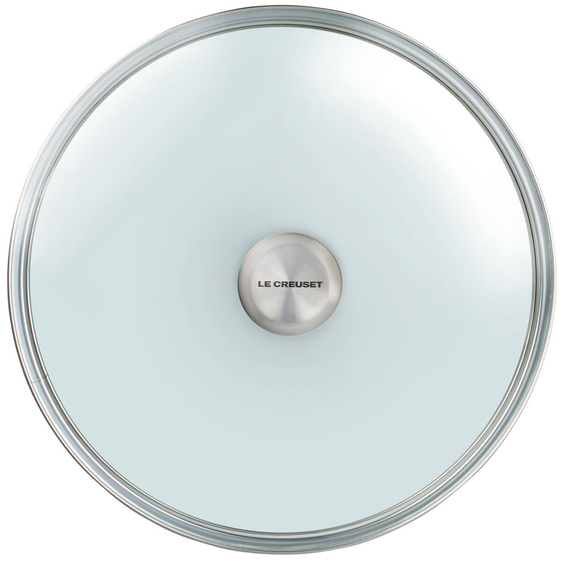 "Le Creuset 12"" Glass Lid w/Stainless Steel Knob"