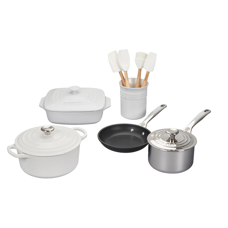 Le Creuset 12 Piece Mixed Material Set - White