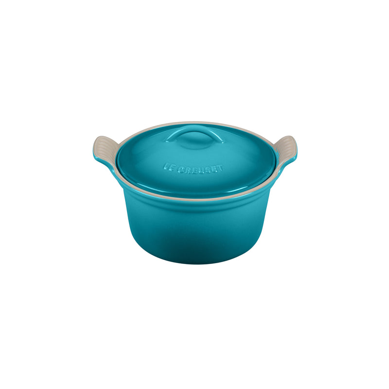 "Le Creuset 18 oz. (6 1/4"") Heritage Covered Cocotte - Caribbean"