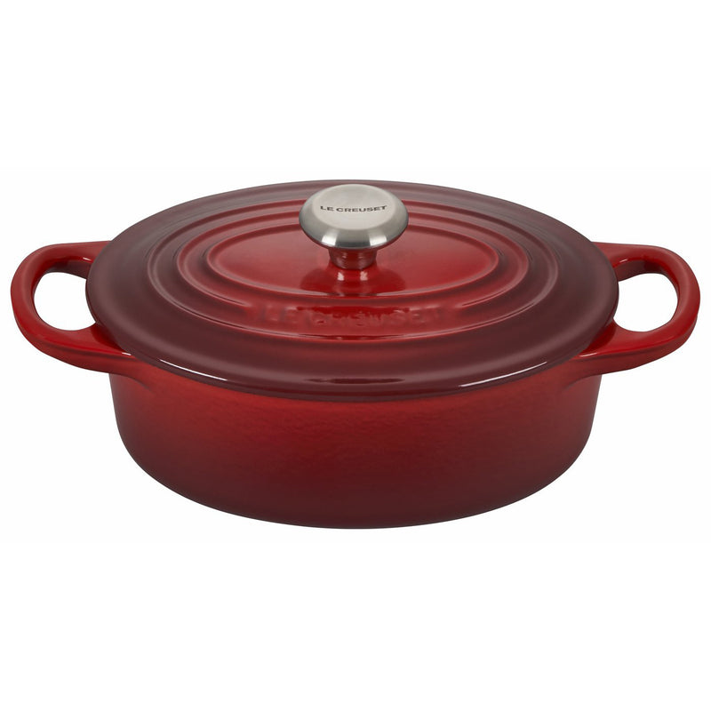 Le Creuset 1 Qt. Signature Oval French Oven w/Stainless Steel Knob - Cherry