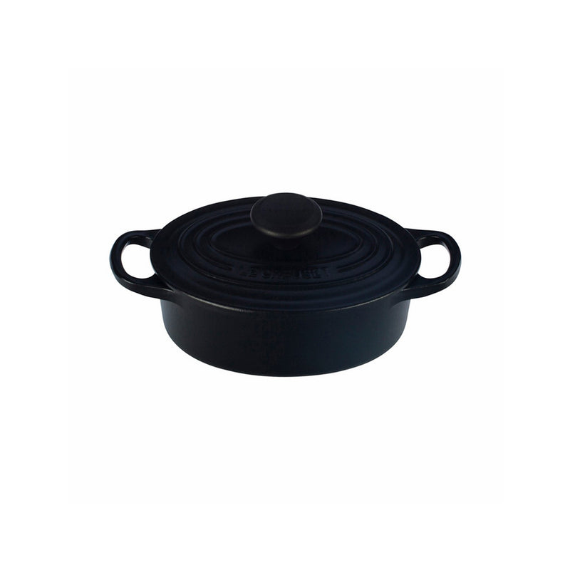 Le Creuset 1 Qt. Signature Oval French Oven - Matte Black