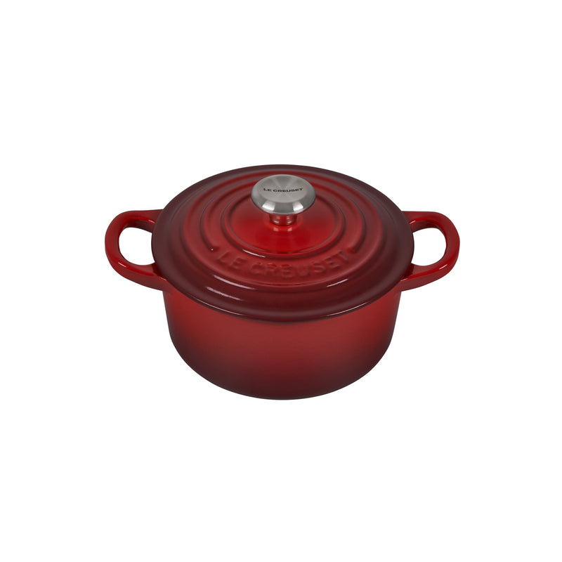 Le Creuset 1 Qt. Signature Round French Oven w/Stainless Steel Knob - Cherry