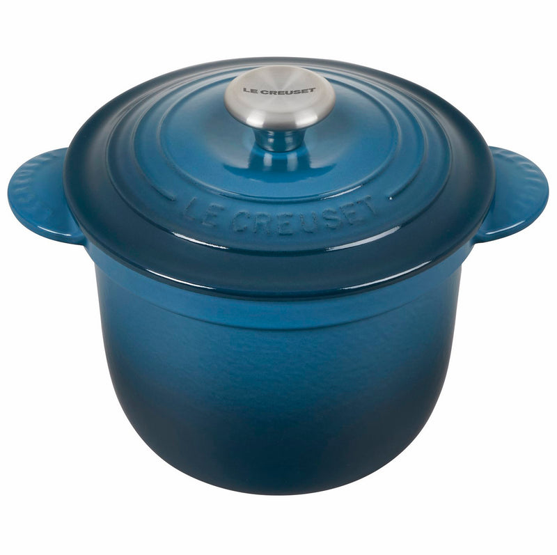 Le Creuset 2 1/4 Qt. Rice Pot w/Stainless Steel Knob & Stoneware Insert - Deep Teal