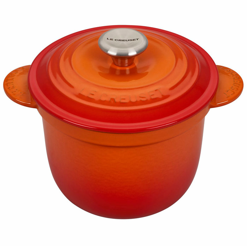 Le Creuset 2 1/4 Qt. Rice Pot w/Stainless Steel Knob & Stoneware Insert - Flame