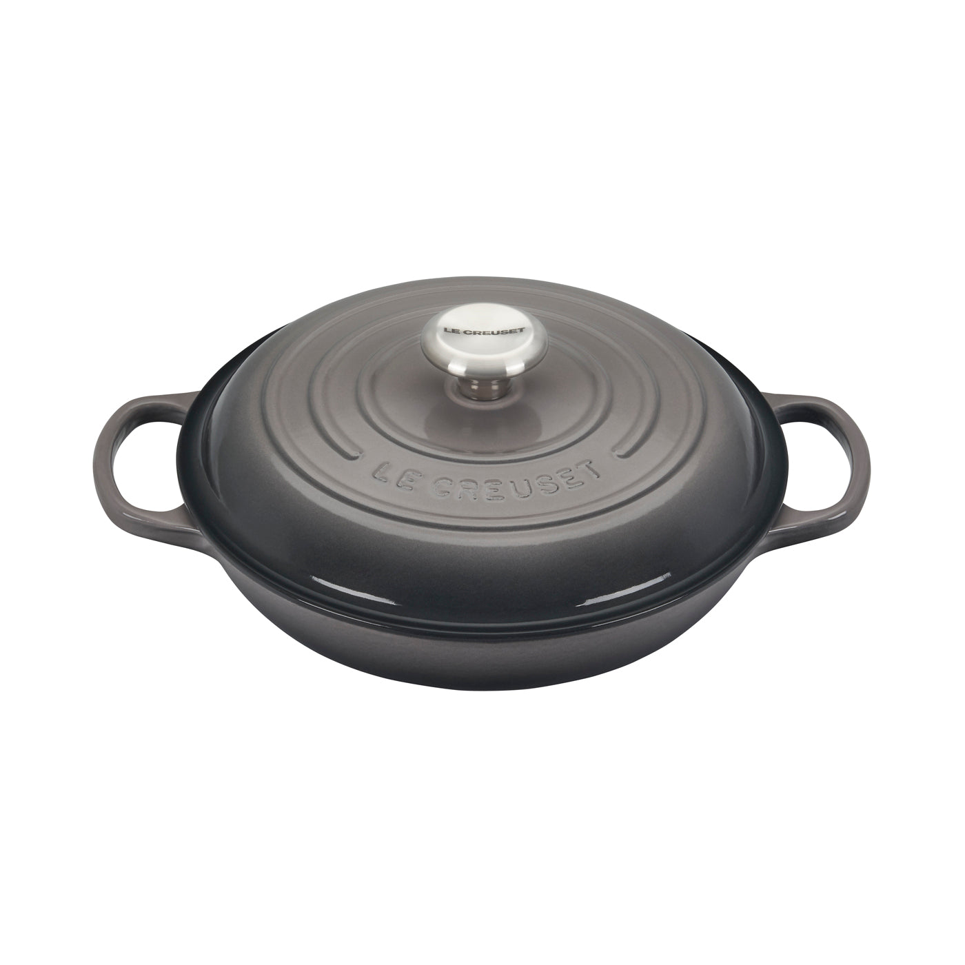 Le Creuset 2.25 Qt. Signature Braiser w/Stainless Steel Knob - Oyster