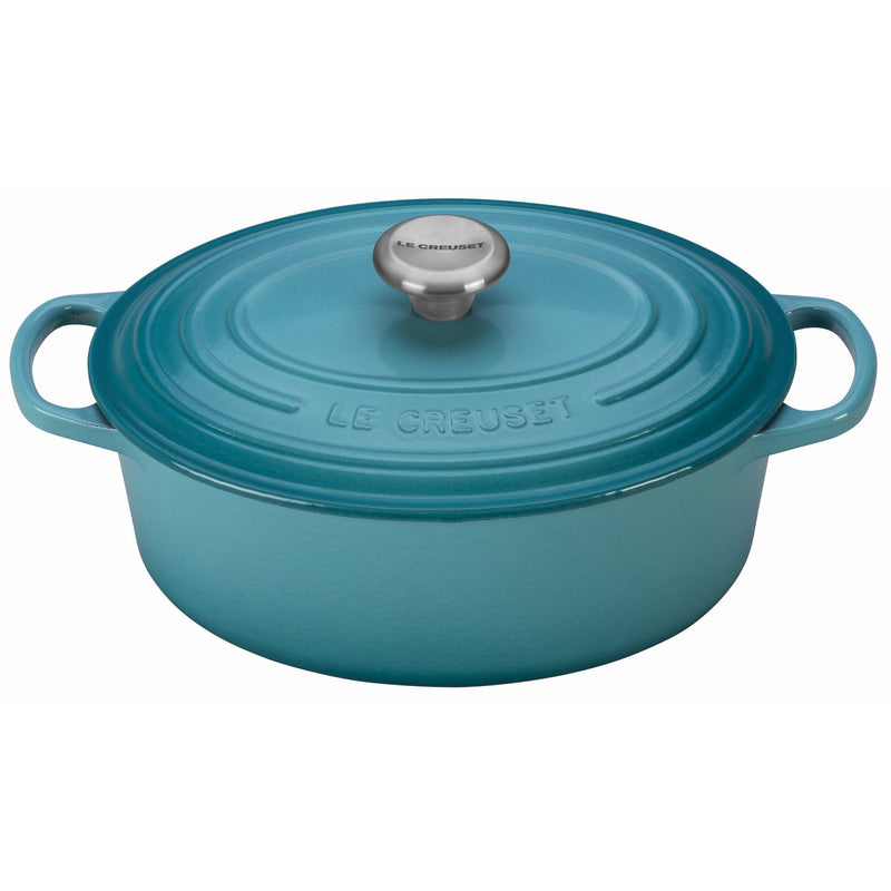 Le Creuset 2 3/4 Qt. Signature Oval Dutch Oven w/Stainless Steel Knob - Caribbean