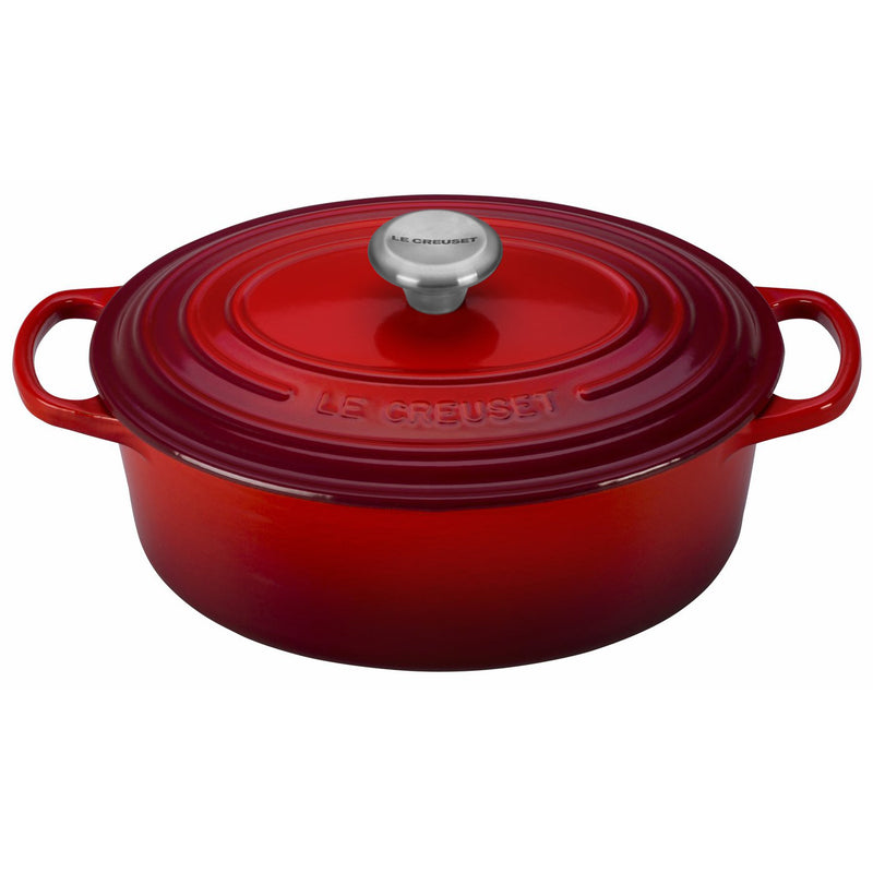 Le Creuset 2 3/4 Qt. Signature Oval Dutch Oven w/Stainless Steel Knob - Cerise
